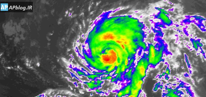 تصویر ماهوارهای توفان اوفلیا